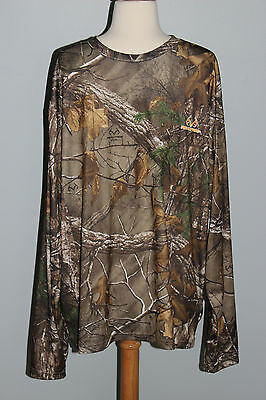 4b18258b2a4a5 New REALTREE Xtra Long Sleeve Performance Shirt Size XL Hunting Camo Top
