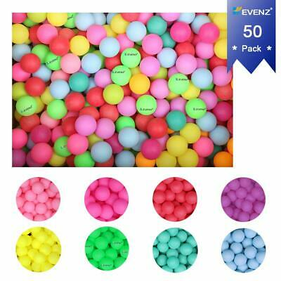 50PCS KEVENZ Multiple Color Beer Ping-Pong Balls Advance Table Tennis Ball