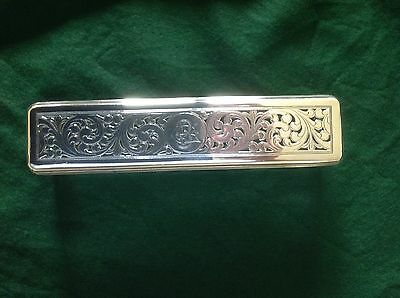 Antique Georgian Silver And Glass Trinket Box