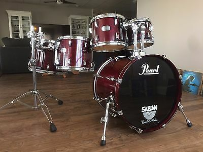 Pearl SBX Session 5pc Drum Shell Kit and Hardware