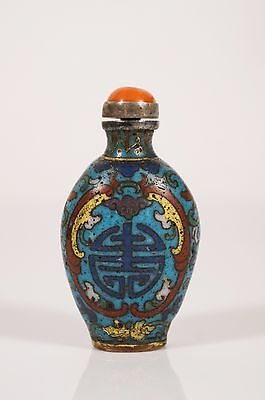 chinese qing dynasty cloisonne snuff bottle
