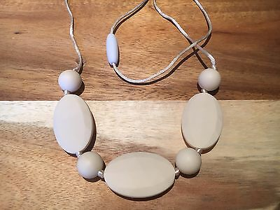 Silicone Sensory (was teething) Necklace for Mum Jewellery Beads Aus Cream