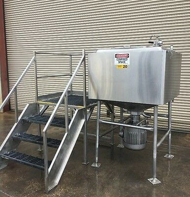 Breddo 250 Gallon Stainless Jacketed Likwifier, Processing Mixing Tank Machinery