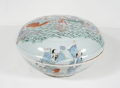 chinese famille rose 8 immortal cover bowl