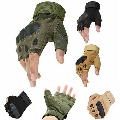 Military Army Outdoor Airsoft Half Finger Motorcycle Cycling Tactical Gloves