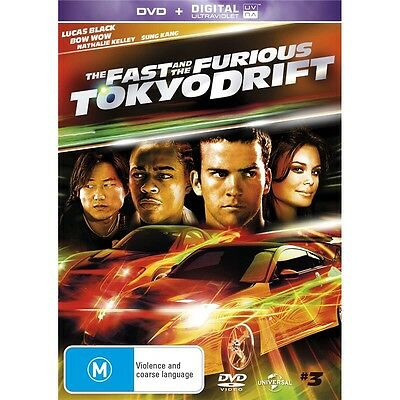 FAST AND FURIOUS 3:Tokyo Drift-Region 4-New AND Sealed-DVD+Ultraviolet