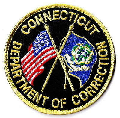 Connecticut State DEPARTMENT OF CORRECTION New Patch Flags Police Style RARE!!!