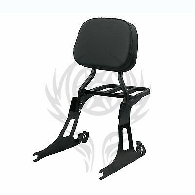 Detachable Passenger Backrest Sissy bar Rack For 06-17 DYNA STREET BOB & SUP