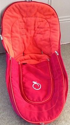 iCandy Main Seat Unit Bright Red Tomato Footmuff & Liner