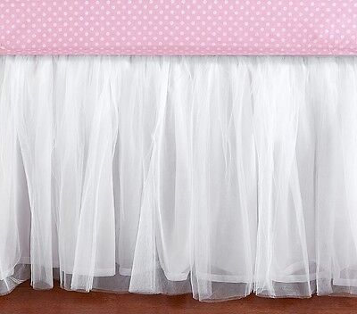 Pottery Barn Tulle Crib dust ruffle - shabby~girlie~glam~adorbs~NWT~a must have!