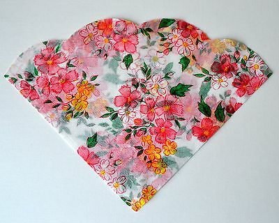 PINK FLOWERS 18 Vintage Rice Paper Napkins - arts and crafts decoupage, Japan