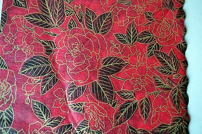 RED ROSES -  17 Vintage Rice Paper Napkins - arts and crafts decoupage, Japan