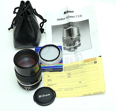 Nikon Nikkor 135mm F/2.8 AI-S Manual Portrait Lens