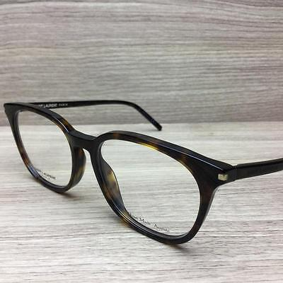 Saint Laurent SL 38 Eyeglasses Authentic Dark Havana 086 52mm