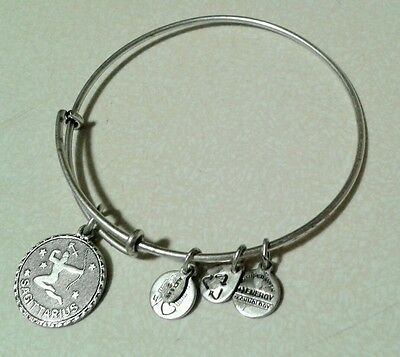 Alex and Ani with Sagittarius Charm sliver Bangle Bracelet pre owner.