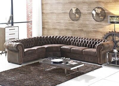 chesterfield sofa ecksofa couchgarnitur silber samt emma. Black Bedroom Furniture Sets. Home Design Ideas