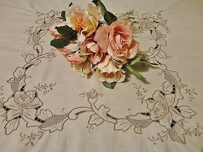Vintage Style Supper Cloth with Embroidered Design