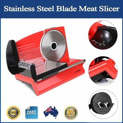 Meat Slicer w/ Stainless Steel Blade Thickness Adjust Knife Guard Large 150W New
