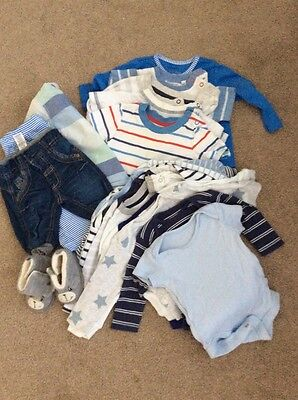 Bundle Of 20 Baby Boy Clothes 0-3 Months