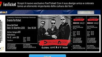 2 biglietti Depeche Mode Early Entry Parterre Vip 29/1/18