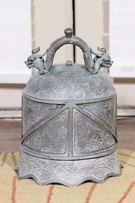 """Antique Chinese Qing Dynasty """"Trumpet"""" Style Bronze Bell."""