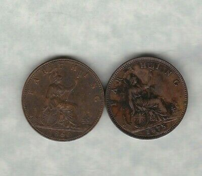 1860 Victorian Farthing In Extremely Fine Condition