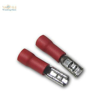 20 Cable Lug Blade Receptacle Red 2,8 x 0,5mm for 0,5 -1 5mm ²/