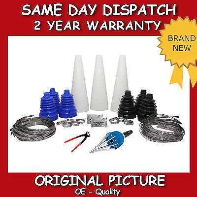 Universal Cv Joint Boot Kit Cone Grease Steel Clamp Cv-Gaiter-Driveshaft New