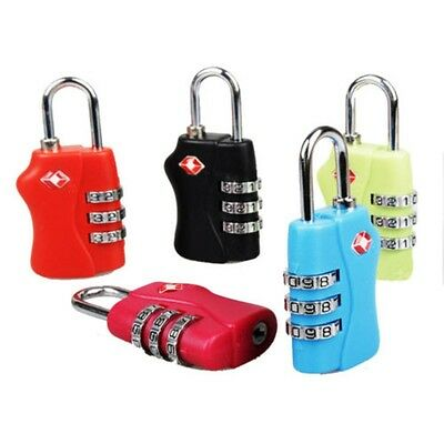 3 Digit Combination Luggage Suitcase Security Travel Cable Lock Padlock