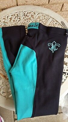 Black teal turquoise ladies jodphurs jods horse riding size 14 18 20