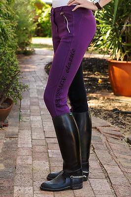 Purple black ladies jodphurs jods riding pants  6  8 10 14 Classic Fleur-de-Lis