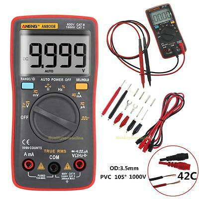 AN8008 True-RMS Digital Multimeter 9999 Counts Square Wave Voltage Ammeter AC DC
