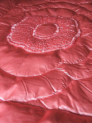 Gorgeous Vintage Pink Satin Eiderdown or Quilt