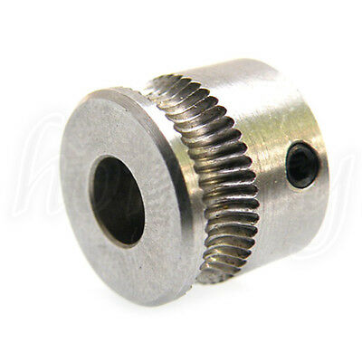 New Stainless Steel Extruder Drive Gear Hobbed Gear For Reprap 3D MK7 Printer