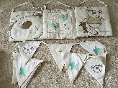 i love my bear bunting and wall decoration