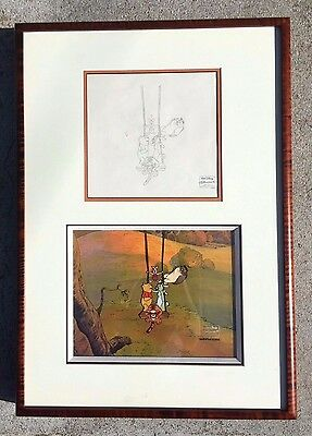 Walt Disney Winnie the Pooh Original Production Cel Clean-Up Drawing Framed