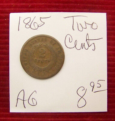 1865 Two Cent Piece -  AG