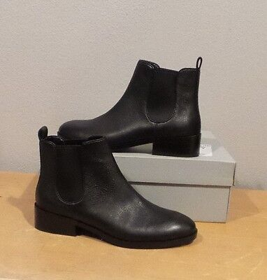 NEW Cole Haan LANDSMAN BOOTIE BLACK Leather Pull On Ankle Boot SHORT SIZE 10 NIB