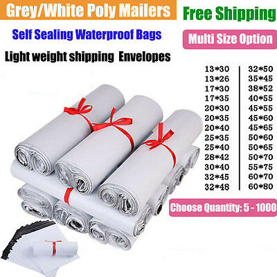 Poly Mailers Shipping Postal Mailing Bags Plastic Envelopes Polybag Self Sealing