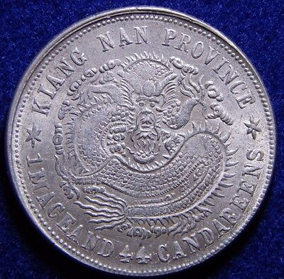 China ND 1901 Kiangnan 20 Cents About UNC Y# 143a.6 Nice Silver Coin!
