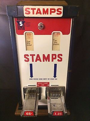 Shipman Mfg Co Postage Stamp Machine Vintage $0.65 and $1.25