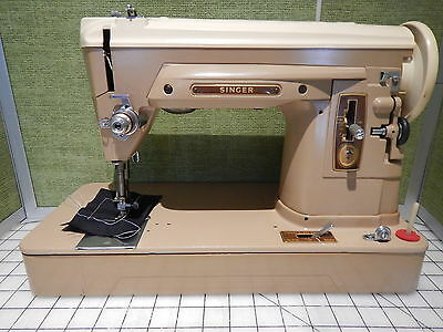 """Singer Sewing Machine, 404 Red """"S"""", Heavy Duty/with power & foot control"""