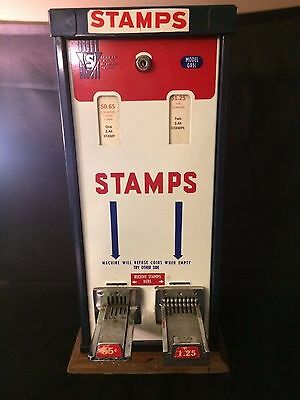 Shipman Mfg Co Postage Stamp Machine GX5L Vintage $0.65 and $1.25