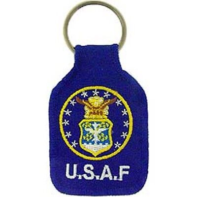 U.s. Air Force - Embroidered Key Ring - Brand New