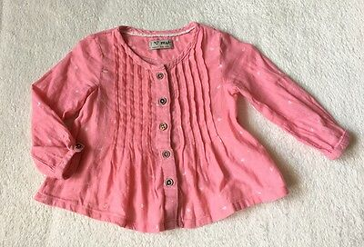 ***Next baby girl Pink blouse top 6-9 months VGC***