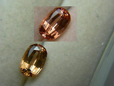 rare color shift Malaya Garnet gem Pinkish Orange Yellow Padparadscha Malaia gm1
