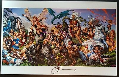 Grimm Fairy Tales Universe 11 X 17 Art Print By Ebas  !!!  Signed !  Nm