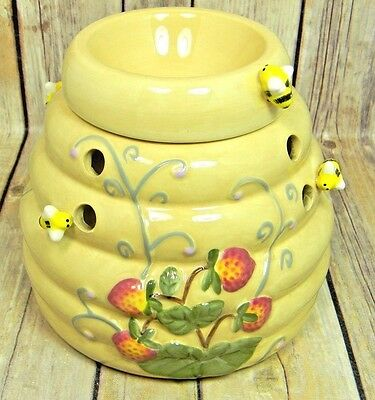 PartyLite Garden Lites Beehive Aroma Melts Warmer Candle Holder EUC RETIRED