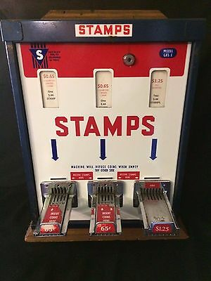 Shipman Mfg Co Postage Stamp Machine GX5-3 Vintage $0.65 and $1.25