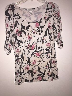 White Black House Market Women's 3/4 sleeve Top Size M